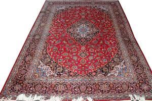100033 KASHAN PERSIAN WOOL CARPET 10 8 X 13