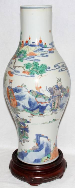091024 CHINESE PORCELAIN VASE CHIEN LUNG MARK H 17