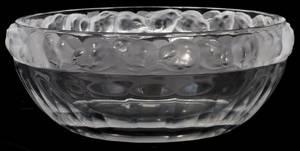 051067 LALIQUE MESANGES CRYSTAL FRUIT BOWL H 4