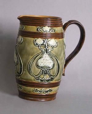 Royal Doulton art nouveau pitcher