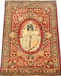 031083 LAVAR KERMAN PERSIAN PICTORIAL RUG LATE 19TH C