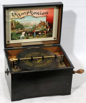 041128 SYMPHONION ROSEWOOD MUSIC BOX WITH CABINET