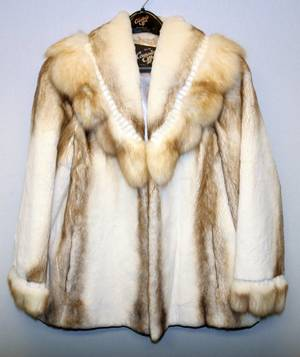 050117 CATHERINE GILBERT RANCH MINK COAT W 45  54
