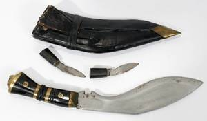 040176 GURKHA KUKRI KNIFE AND SHEATH L 6 BLADE