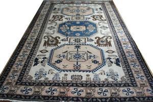 030119 BOKHARA PERSIAN WOOL CARPET 10 3 X 69