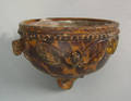 Virginia redware hanging flower pot possibly the workshop of Anthony W Baecher Winchester Virginia late 19th c