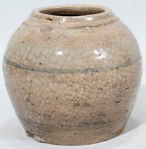 011194 CHINESE POTTERY VESSEL MING DYNASTY H 3 12