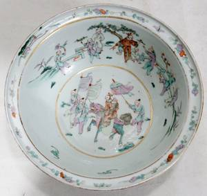 011193 CHINESE PORCELAIN BOWL C 1860S H 3 12