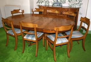 122183 FEDERAL STYLE MAHOGANY DINING SET BY OLD COLONY