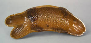 American redware fish mold 19th c