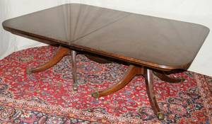 052165 BAKER FURNITURE CO MAHOGANY DINING TABLE 56