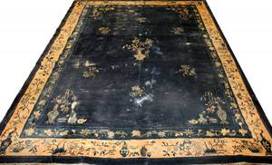021209 ANTIQUE WOOL PEKING CHINESE CARPET C 1890