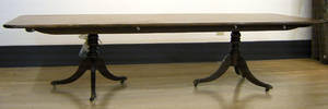 Large English mahogany dining table