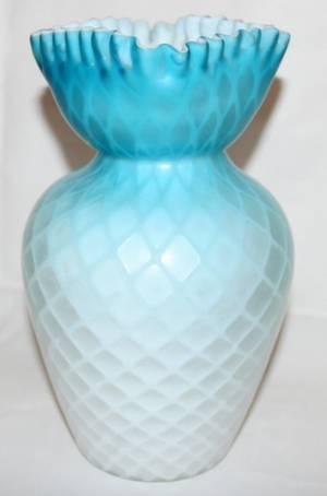 Realized Price For 011270 Victorian Satin Glass Vase