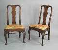 Pair of George II mahogany dining chairs ca 1740