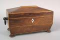 Regency rosewood veneer tea caddy early 19th c