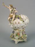 Meissen porcelain wine keg 19th c