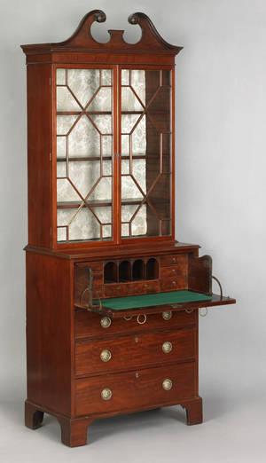 George III mahogany secretary bookcase ca 1770