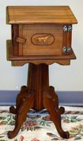 050232 EASTLAKE STYLE MAPLE PIPE STAND H 27 W 13