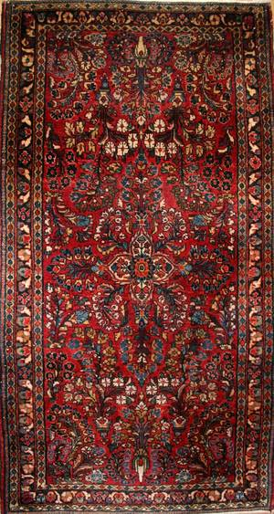 042273 SAROUK WOOL PERSIAN RUG 4 9 X 2 7