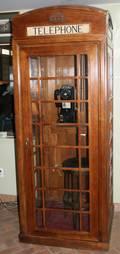 031298 ENGLISH WALNUT PUB TELEPHONE BOOTH H 84 APPROX
