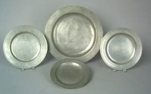 English pewter charger 18th c