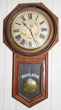 012251 ANSONIA MAHOGANY REGULATOR CLOCK C 1900 H 30