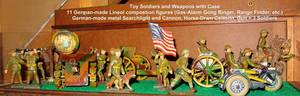 060310 GERMAN MADE WWI TOY SOLDIERS 15 PCS H 35