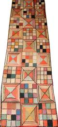 041341 ANTIQUE WOOL HOOKED RUG 19TH CENTURY 7 11