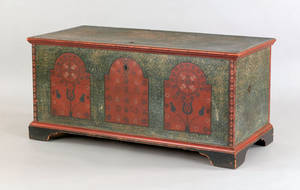 Pennsylvania painted dower chest ca 1800