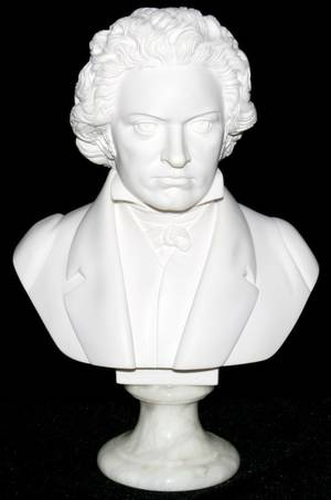 031324 MARBLE BUST OF BEETHOVEN H 13