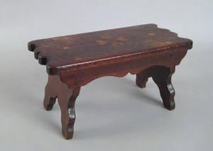 Pennsylvania walnut foot stool 19th c
