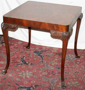 020304 CHIPPENDALE STYLE MAHOGANY GAME TABLE H 29
