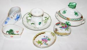 031379 HEREND  MEISSEN PORCELAIN DISHES  BOXES 7
