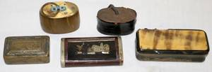 012365 FRENCH SNUFF BOXES ANTIQUE FIVE 18TH C