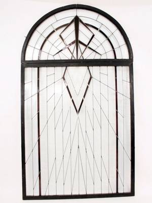 Large Arched Top Stained Glass Window