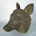 Black Forest carved wolfs head mount