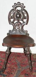 021403 SWISS HANDCARVED CHAIR C 1900
