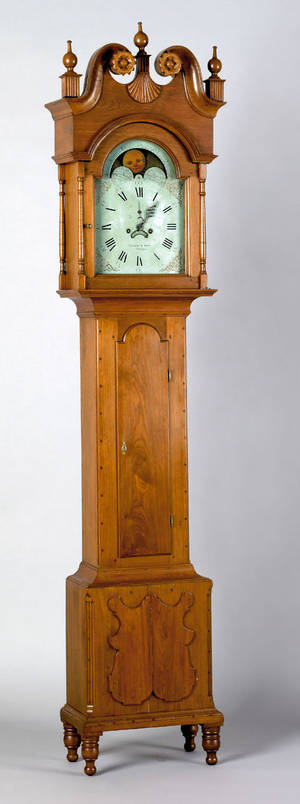 Lebanon Pennsylvania Chippendale walnut tall case clock ca 1800