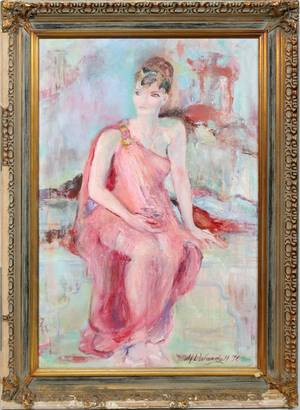 020463 MARION WARDELL OIL ON CANVAS 36 X 24 LADY