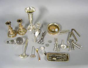 Group of silver plate Provenance Shoemaker Estate