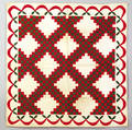 Applique crib quilt late 19th c