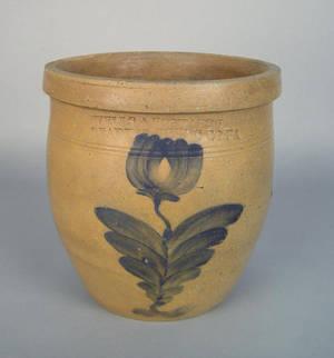 Rare Pennsylvania stoneware crock ca 1845