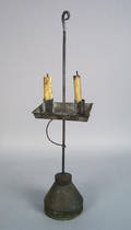 Tin table top candlestand 19th c