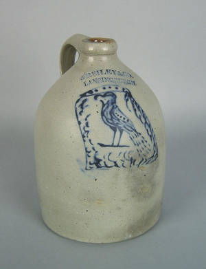 New York stoneware jug 19th c