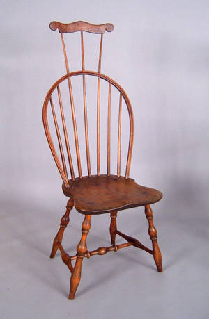 New England combback windsor side chair ca 1800