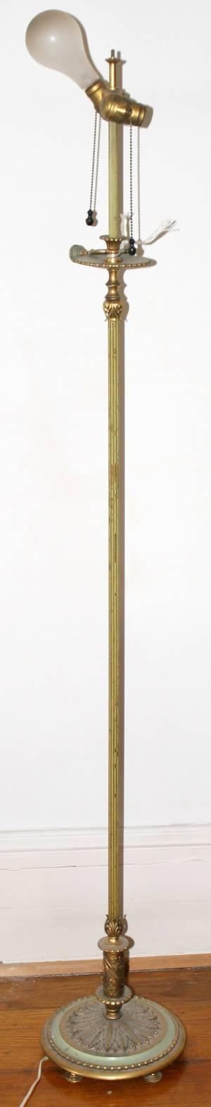 031537 BRONZE FLOOR LAMP EARLY 20TH C H 62