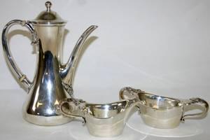 051017 TIFFANY  CO CLOVER STERLING MINI TEA SET