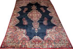 042051 KERMAN PERSIAN WOOL CARPET 14 3 X 9 10