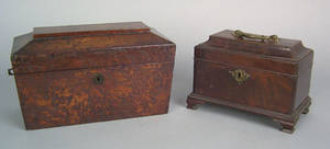 George III mahogany tea caddy ca 1760